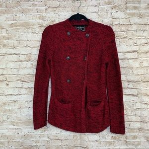 Lucky Brand red front button cardigan sz S